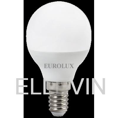 Лампа светодиодная EUROLUX  LL-E-G45-7W-230-2,7K-E14