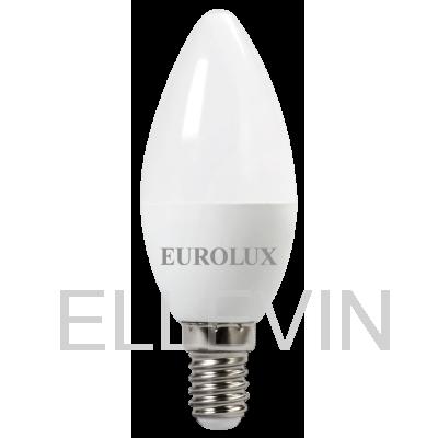 Лампа светодиодная EUROLUX  LL-E-C37-6W-230-4K-E14