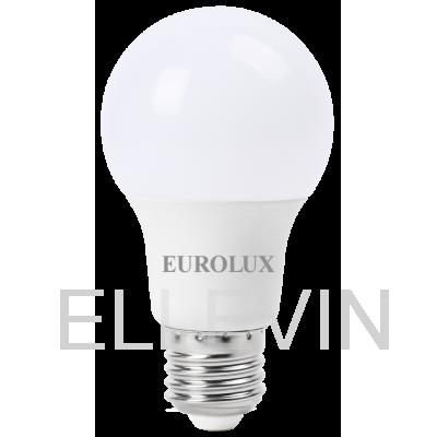 Лампа светодиодная EUROLUX  LL-E-A60-9W-230-2,7K-E27