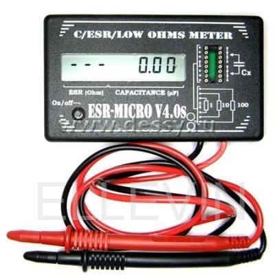Измеритель ёмкости: ESR-micro v4.0s