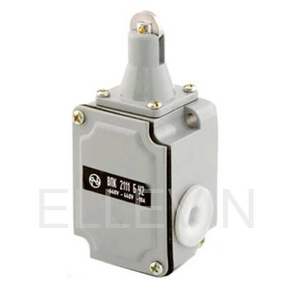 Выключатель путевой: ВПК-2111-БУ2 (толкатель с роликом)