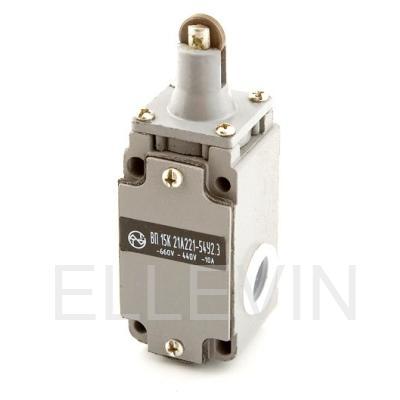 Выключатель путевой  ВП15К21А(Б)221-54У2.8  (толкатель с роликом, прямого действия)