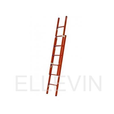 Лестница стеклопластиковая приставная раздвижная диэлектрическая  ЛСПРД-7,0 Евро МГ К