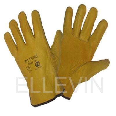 """Перчатки кожаные """"Драйвер-Стандарт"""" желтые"""