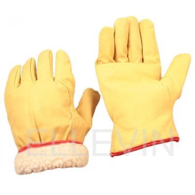 Перчатки кожаные утепленные: мех мутон