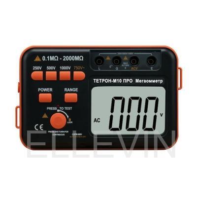 ТЕТРОН-М10 ПРО Мегаомметр цифровой 1000 Вольт 2 ГОм