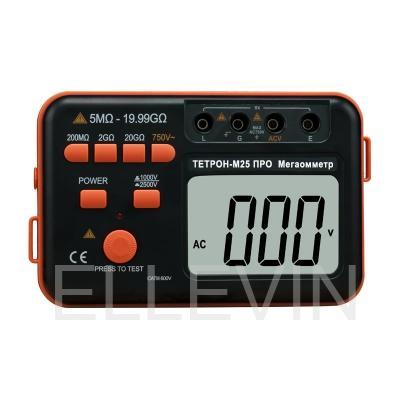 ТЕТРОН-М25 ПРО Мегаомметр цифровой 2500 Вольт 20 ГОм